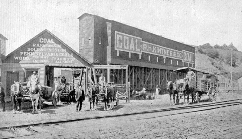 R.H. Kintner and Co. coal yard at 312 Main St., Stroudsburg, circa 1913.