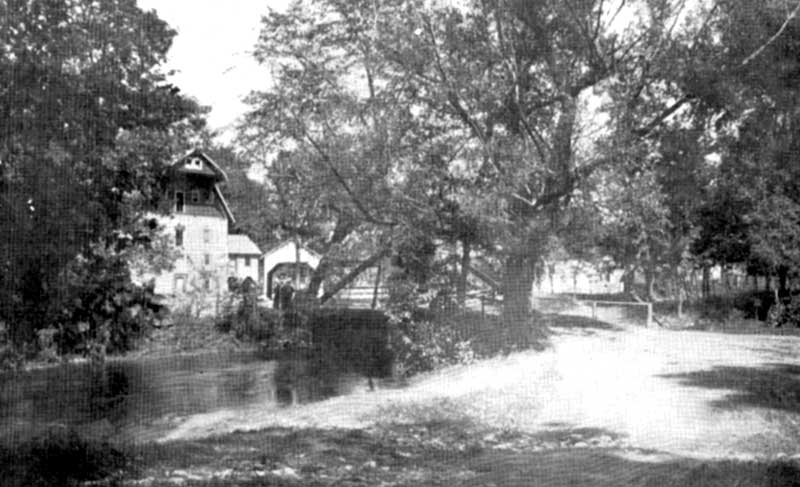 Eilenberger's Mill, North Water Gap, circa 1905.