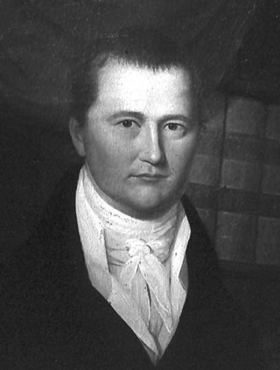 Portrait of Daniel Stroud (1772-1846), son of Stroudsburg's founder, Jacob Stroud. Daniel was a lawyer in Easton, but moved up to Stroud Mansion to assist his father in developing Stroudsburg and the surrounding towns.