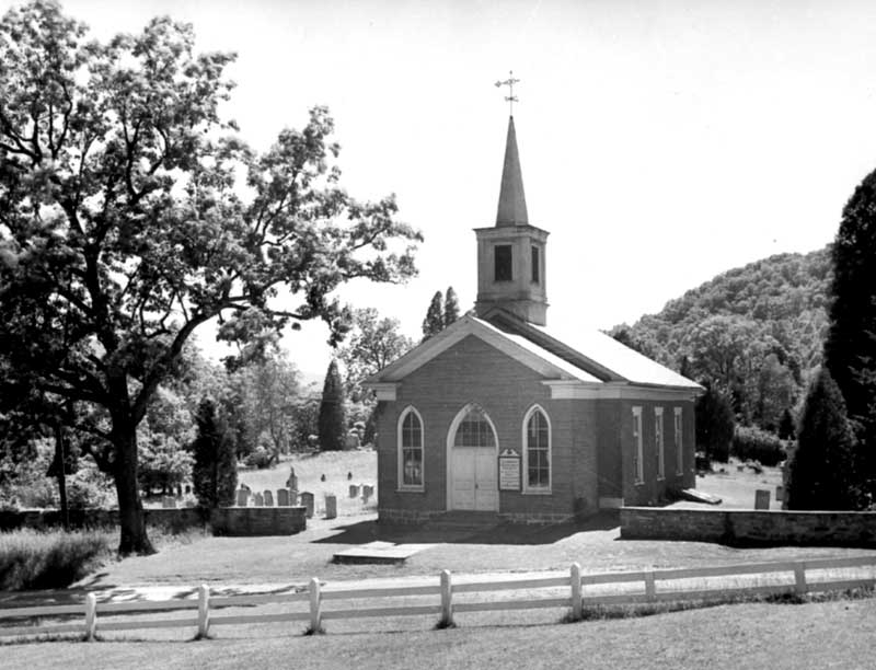 The Shawnee Presbyterian Church replaced the Old Stone Church, which was erected in 1752 and used by various Christian demoninations, including Presbyterian, Lutheran, Baptist and German and Dutch Reformed.
