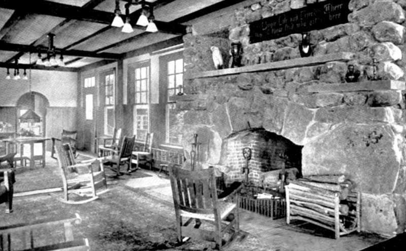 East Room fireplace at the Inn at Buck Hill Falls near Cresco.