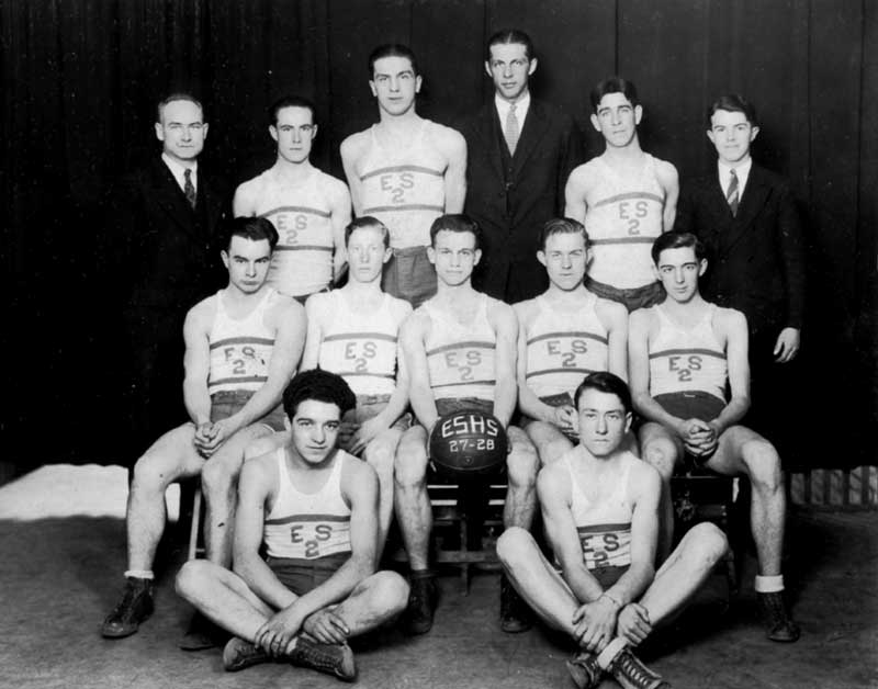 East Stroudsburg High School basketball team, 1927-1928.