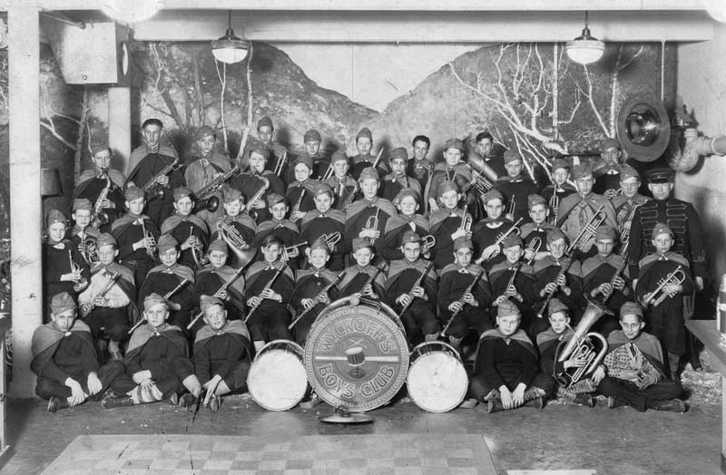 Wyckoff's Boys Club Band, circa 1930.