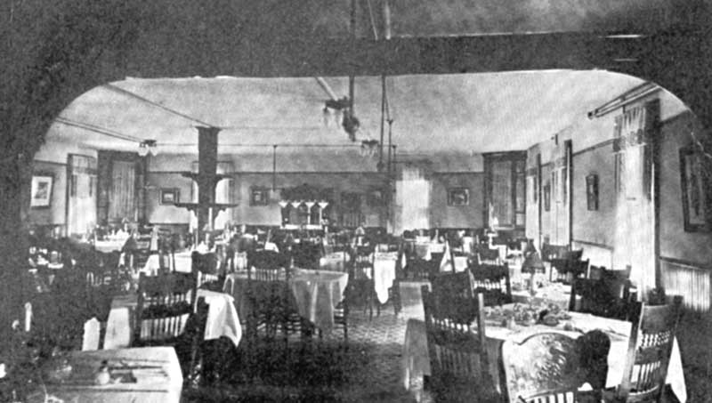 Laurel Inn Dining Room, Pocono Lake, circa 1915.
