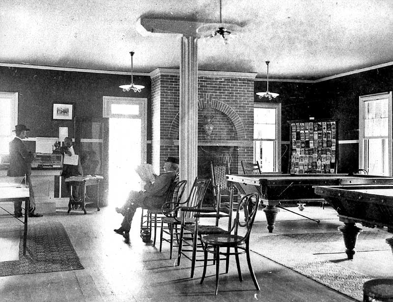 Interior of the Kittatinny Hotel, Delaware Water Gap.
