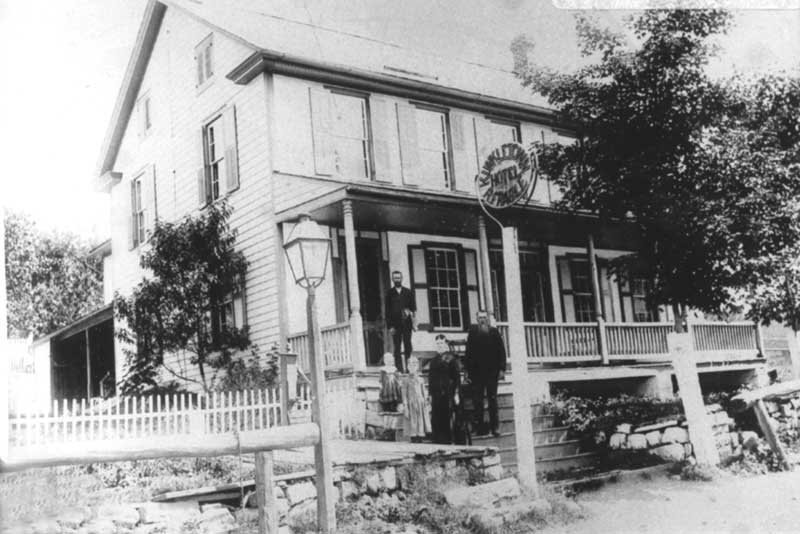 The American Hotel in the center of Kunkletown is said to have been opened by Joseph Kunkle in 1849.