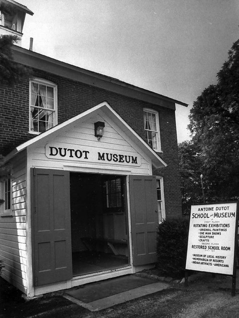 The Antoine Dutot Museum is in the former schoolhouse in Delaware Water Gap, which once was called Dutotsburg after its founder.