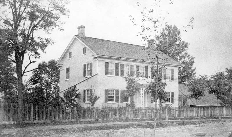 Hannah (Stroud) Starbird, Oct. 11, 1763-Dec. 14, 1839, lived here on Washington Street in East Stroudsburg. She was the daughter of Jacob and Elizabeth (McDowell) Stroud.