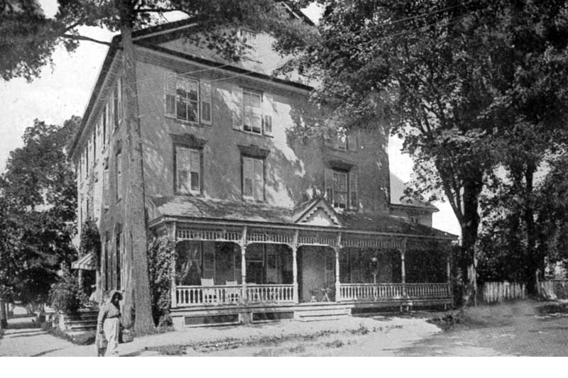The Stroud Mansion house on the corner of 9th and Main streets in Stroudsburg was built in 1795 by Jacob Stroud. This is the view from the 9th Street side.