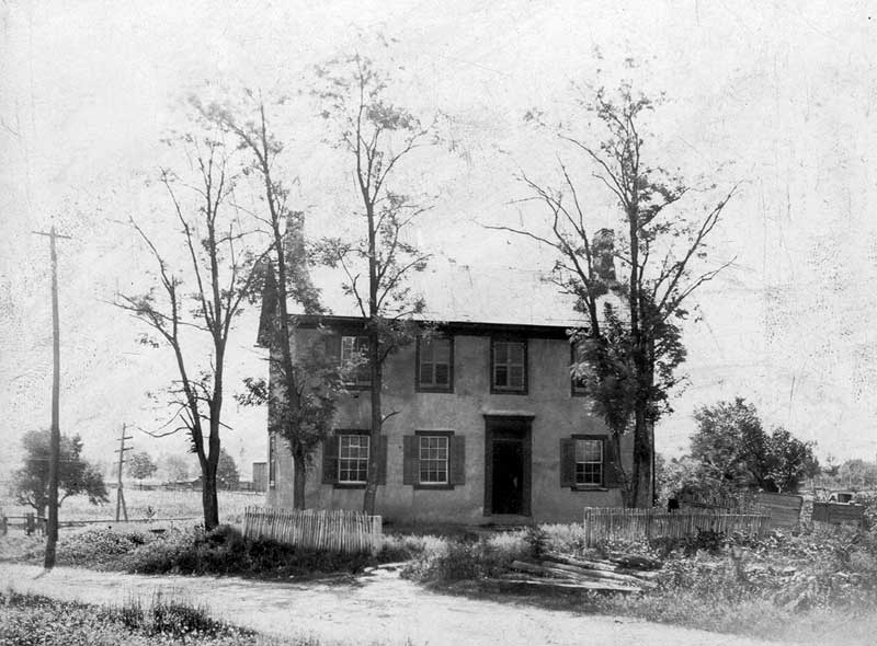 The East Stroudsburg home of Deborah (Stroud) Burson, Jan. 25-1782-Aug. 4, 1866, built by her father, Jacob Stroud.