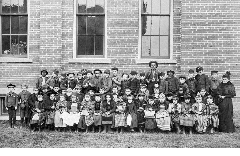 Miss Lillie Bittenbender's 1892 first-grade class. Miss Lillie was a favorite Stroudsburg teacher for more than 48 years. It was estimated that she taught more than 3,500 students.