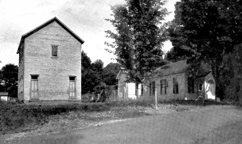 Analomink Public School, left, and Methodist Episcopal Church, circa 1906.