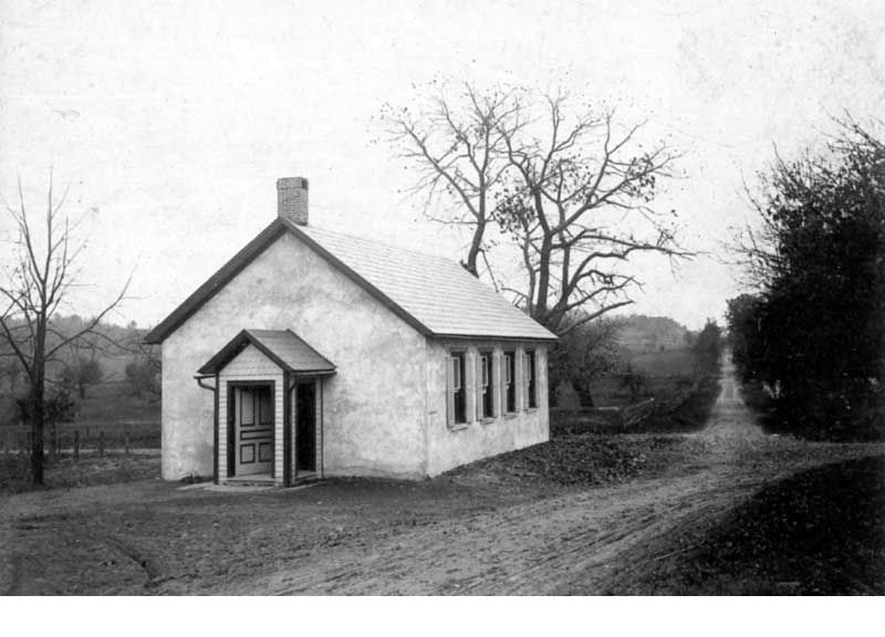 Shafers Schoolhouse was built in 1823. For 30 years, it was also used as a church by English and German Lutherans. It was discontinued as a school in the early 1900s, but still serves as an occasional chapel today.