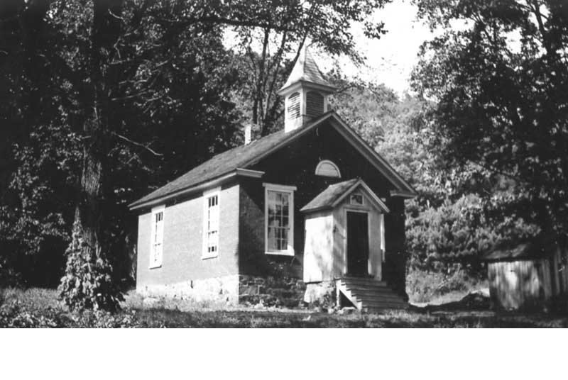 The Bell School, a one-room schoolhouse along Cherry Valley Road in Stormville, south of Stroudsburg. It was built in the 1870s and served students until 1953.