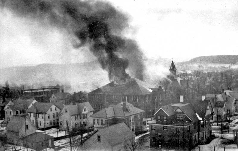 Stroudsburg High School, 6th and Thomas streets, was destroyed by fire on February 26, 1927. Ramsey Elementary School was built on the property.