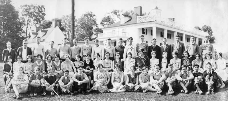 East Stroudsburg High School seniors at Mount Vernon, Va., 1930.