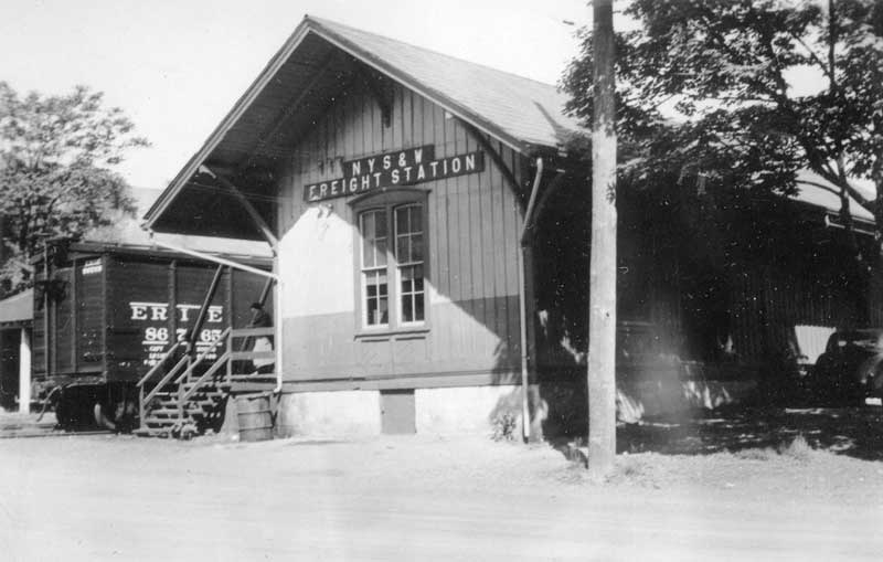 New York, Susquehanna & Western Railroad freight station before it was moved to 537 Ann Street, Stroudsburg, as the Driebe Freight Station.