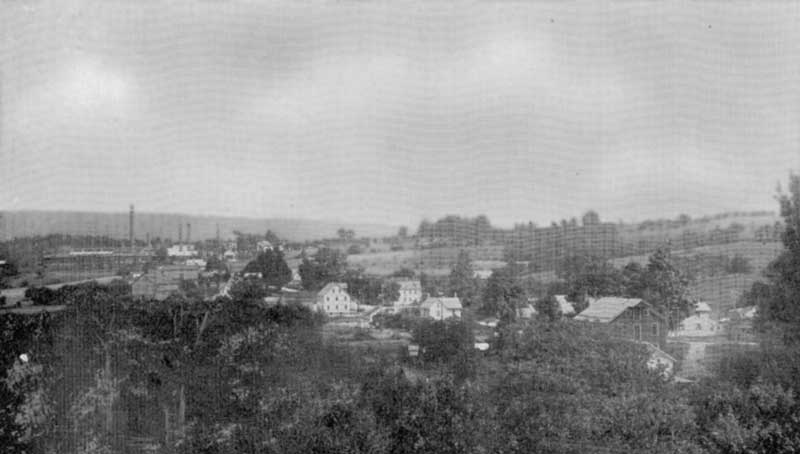 A view of Saylorsburg including the Blue Ridge Brick Works.