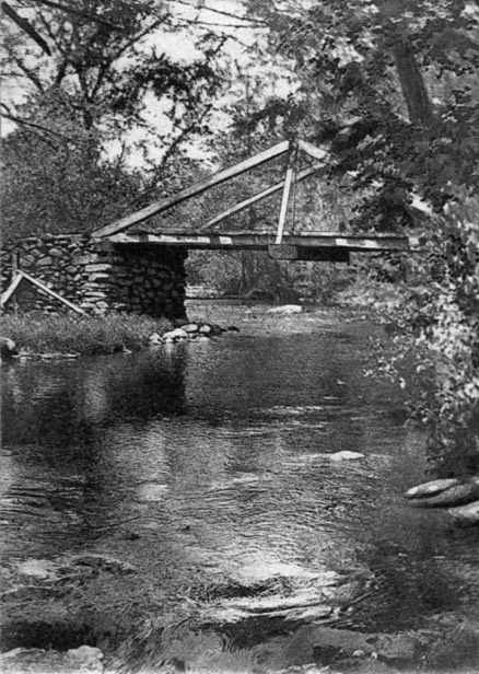 """Ye Old Bridge"" over Marshall's Creek."