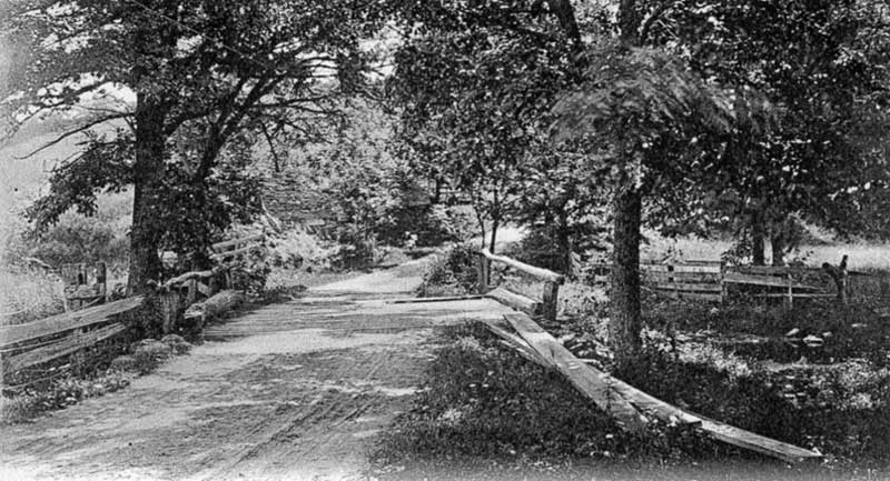 "The end of Marshall's Walk, near Marshalls Creek. In 1739, Edward Marshall was one of the walkers in the infamous ""Walking Purchase."""